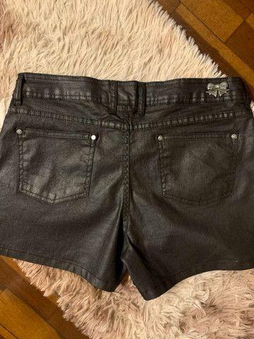 Short jeans azul resinado - Foto 2