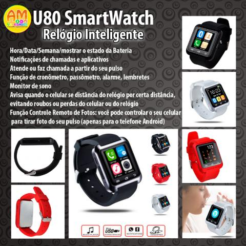 U80 Smart Bluetooth Watch Relógio Inteligente