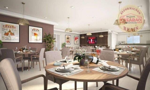 Apartamento com 2 dormitórios à venda, 58 m² por R$ 299.700,00 - Canto do Forte - Praia Gr - Foto 11