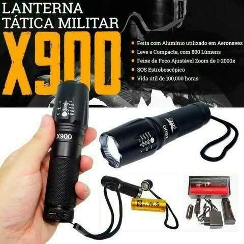 Lanterna Tática Militar X900 super potentes - Foto 3