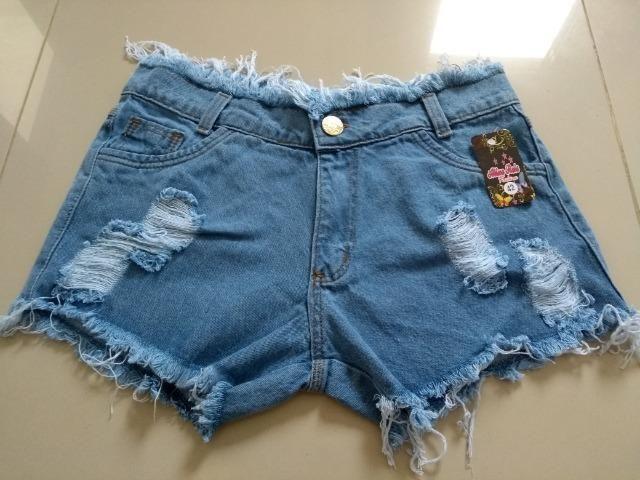 Short Jeans Feminino Alicia com elastano, numeração 36, 38, 40, 42 e 44 - Foto 3