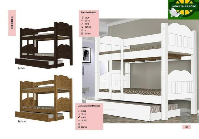 Beliche madri e cama auxiliar 100% MDF *