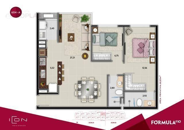 Apartamento com 2 dormitórios à venda, 58 m² por r$ 520.899,49 - centro - balneário cambor - Foto 12