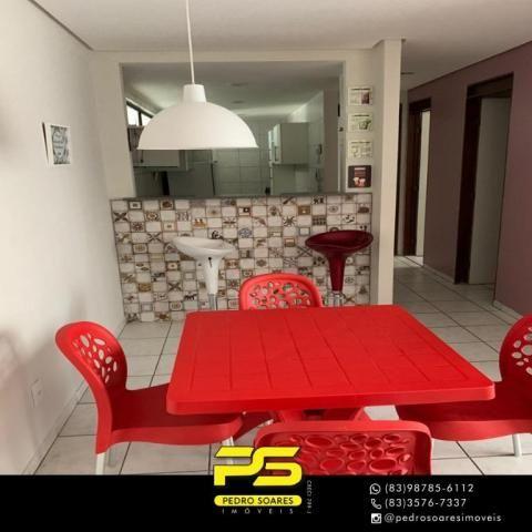 Apartamento com 3 dormitórios à venda, 73 m² por R$ 400.000 - Tambaú - João Pessoa/PB - Foto 3