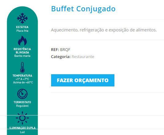 Buffet self service Polar para restaurante 10 cubas quentes 5 frias Novo Frete Grátis - Foto 2