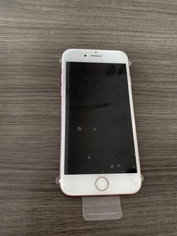 IPhone 7 128 semi novo Rose sem detalhes Parcelo no Cartão - Foto 5