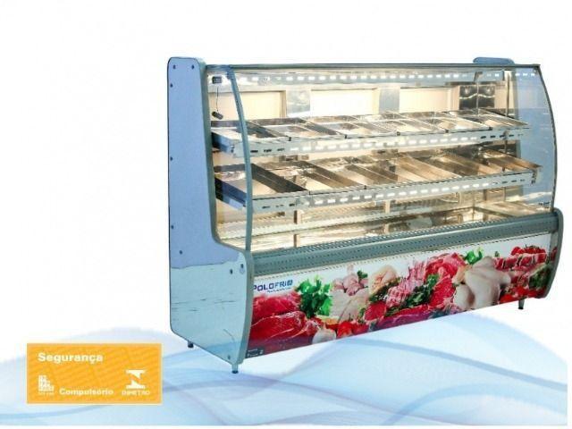 Expositor Açougue Avícola com Vidro Semi Curvo - 2,00m Polo Frio - Foto 2
