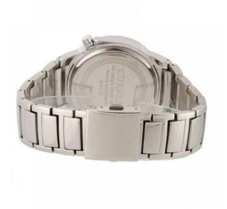 Relógio Masculino Marca: Curren 8109, Novo Prata e Branco - Foto 3