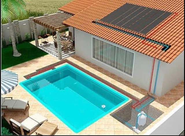 Aquecimento solar para piscina pronta entrega