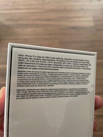 iPhone 12 128gb preto lacrado - parcelo no cartão - Foto 2