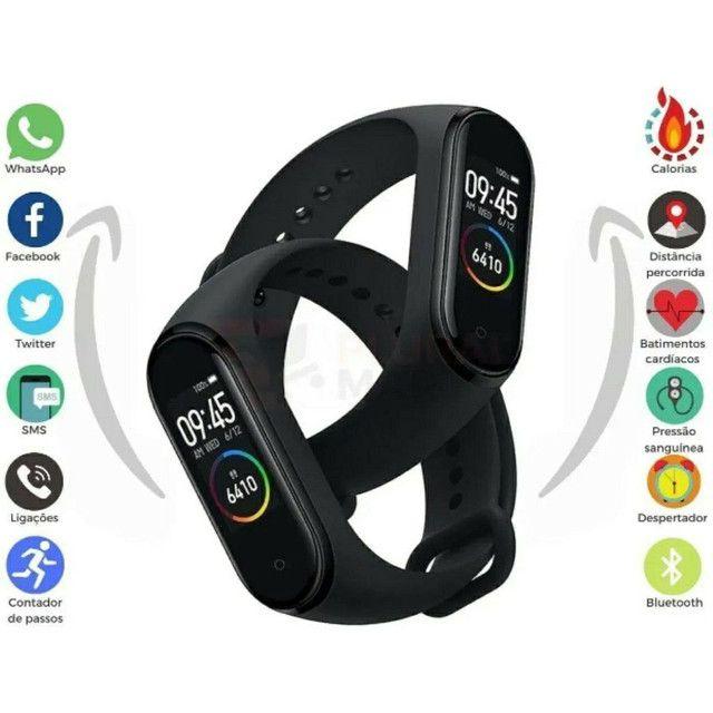 Pulseira M4 Smartband Inteligente  Monitor de pressão arterial Relógio inteligente