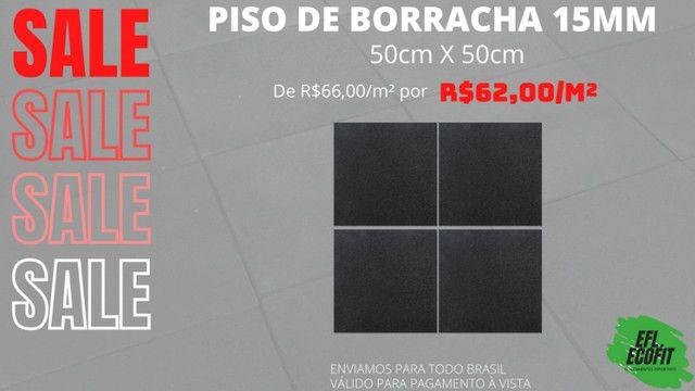 Promoção Piso de borracha 15mm 50cm X 50cm