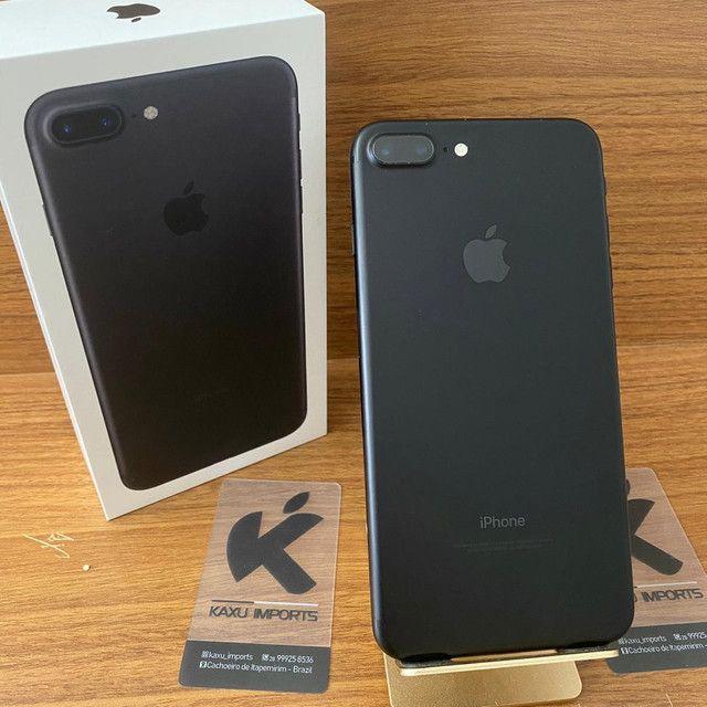 iPhone 7 Plus Preto 32gb - Estado de Novo! Completo. - Foto 2