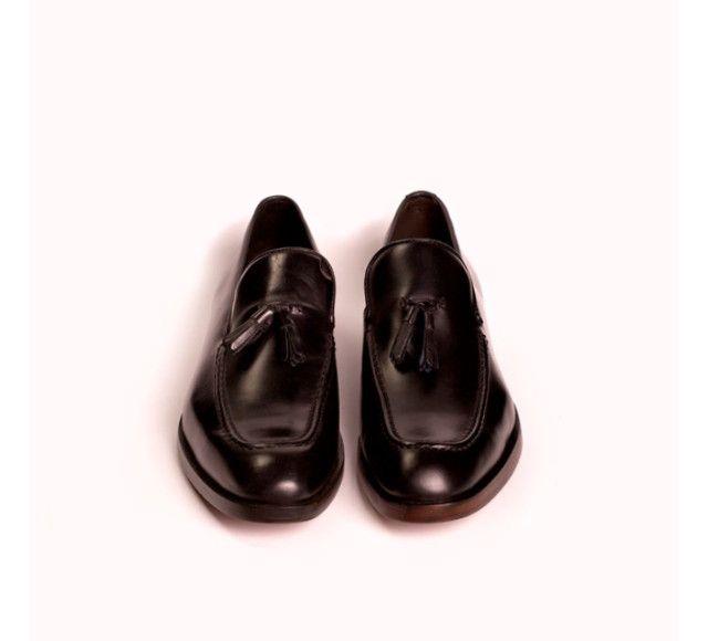 Sapato Masculino Monarchy Slipper Preto (Couro Legítimo) - Foto 3