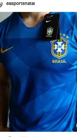 Camisa nike brasil m e g na etiqueta - Foto 3