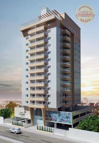 Apartamento com 2 dormitórios à venda, 58 m² por R$ 299.700,00 - Canto do Forte - Praia Gr - Foto 7