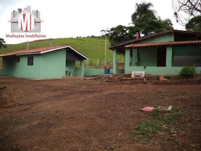Excelente chácara com 02 casas, terreno plano, 1800 metros, perto do asfalto e linda vista - Foto 17