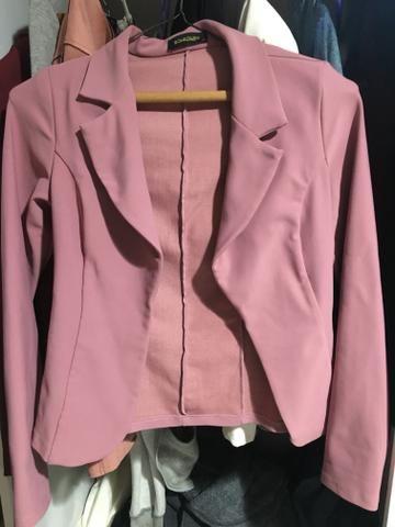 2e02cea7e5 Blazer feminino rosa - Roupas e calçados - Centro