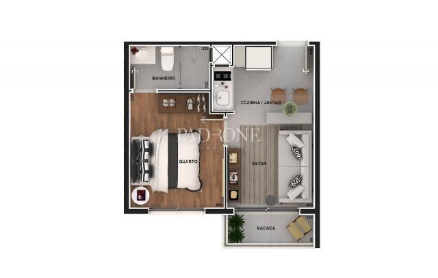 Apartamento à venda com 1 dormitórios em Bacacheri, Curitiba cod:AP0207 - Foto 4