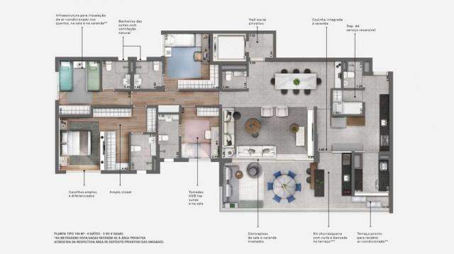 Apartamentos de 186 m² com 3 ou 4 suítes - ótima localização no campo Belo - SP - Foto 15