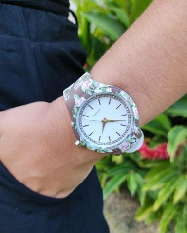? Lindo relógio analógico com pulseira de silicone!! ? - Foto 2