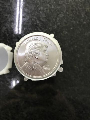 20 moedas de prata 999do Trump 1 onça cada - Foto 3