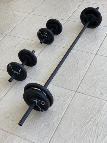 Barra / Halter / Anilha / Presilhas - Musculação / academia / Treino quarentena - Foto 4
