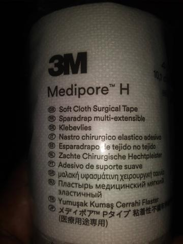 Fita medica esparadrapo Bandage Medipore H 3M 2864 Tecido Pano Fácil Remoção sem Agressão - Foto 4