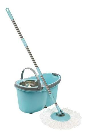 Balde Esfregão Mop Limpeza Prática Com Rodas - Mor - Foto 2
