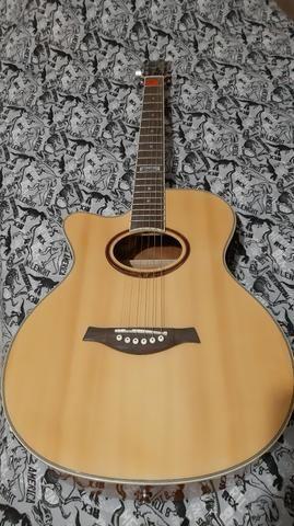 Vendo ou troco por play 3, violão tagima dallas para canhoto - Foto 3