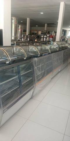 Estufas e balcão vitrine quente refrigerado pronta entrega