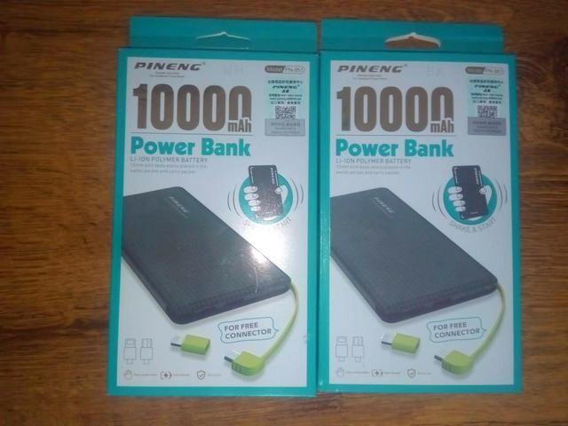 Carregador Portátil Power Bank Pineng Slim 10000 mah Cabo Usb Original - Foto 4