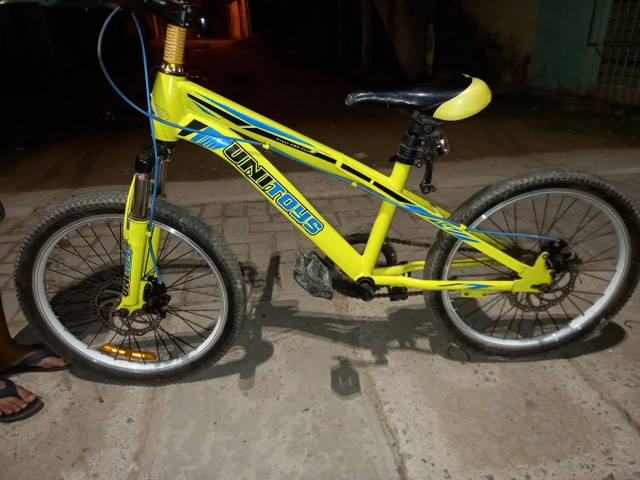 Bicicleta  com freio a disco  - Foto 4