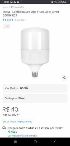 Refletores e lampada