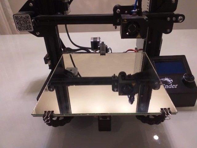 Impressora 3D Ender 3 pouquíssimo uso!! - Foto 6