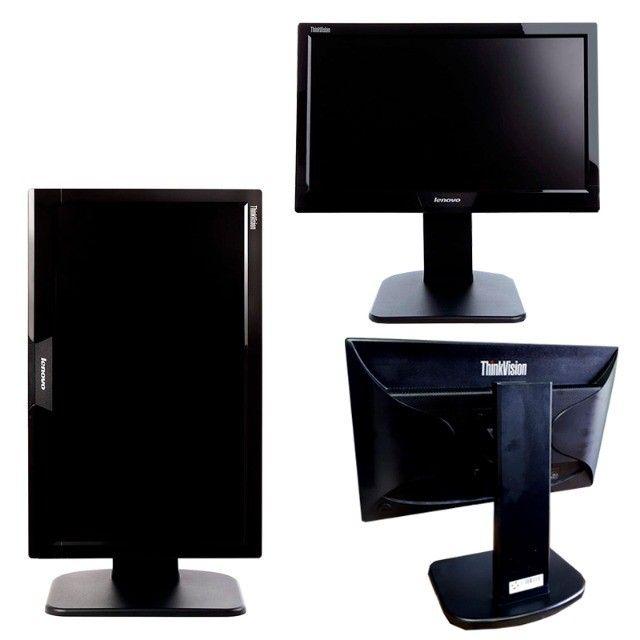 Kit Computador Monitor Teclado Lenovo I3 4160 480SSD Wifi - Foto 3