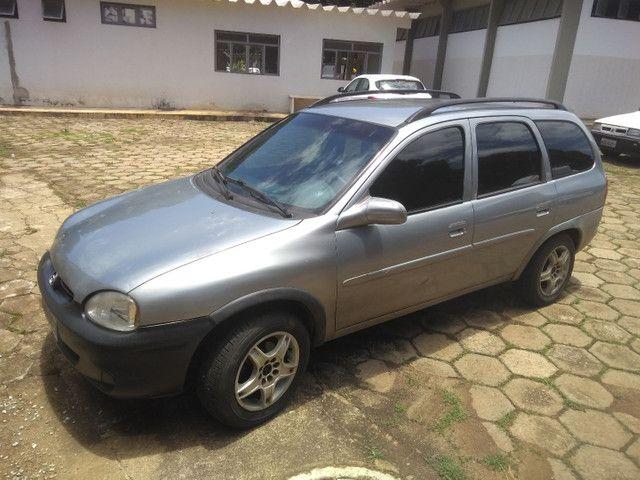 Vendo ou troco Corsa wagon completo 1.6 1998 - Foto 5
