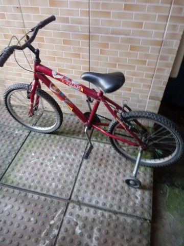 Bicicleta homen aranha de menino aro 16 toda boa - Foto 3