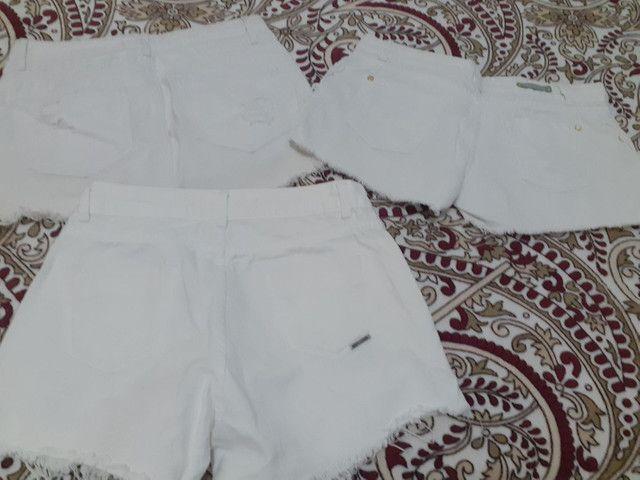 Short jeans e saia jeans (36 e 38) semi novos - Foto 2