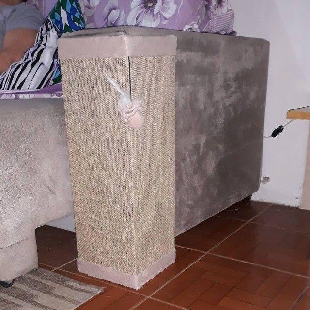Arranhador protetor sofá ou cama, tela dupla, Rosa - Foto 2