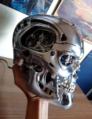 O Exterminador Do Futuro Crânio T800 Tamanho Real Escala 1/1 - Foto 5