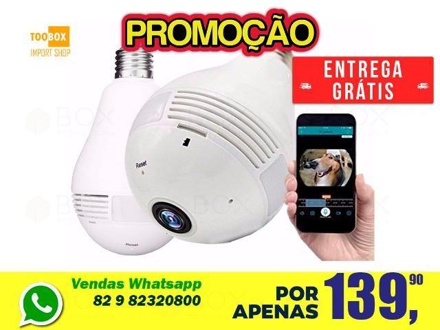 Camera Lâmpada 3d Wi-fi 360° Vr Cam - Entrega Grátis