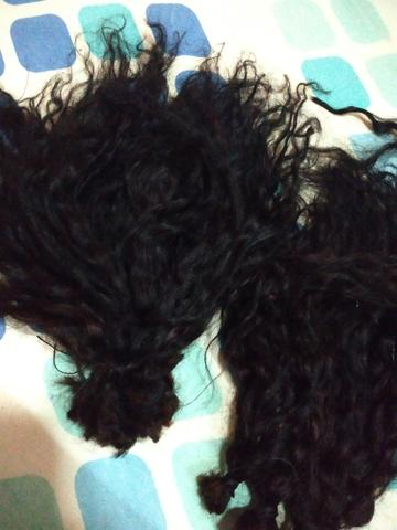 Mega Hair cacheado. 450,00