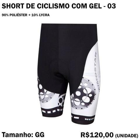 Short de Ciclismo com Gel - Modelo 03