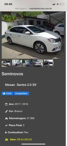 Sentra Nissan 2.0 2018 sv cvt aut - Foto 6