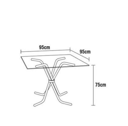 Mesa de Vidro com 4 cadeiras - Foto 5