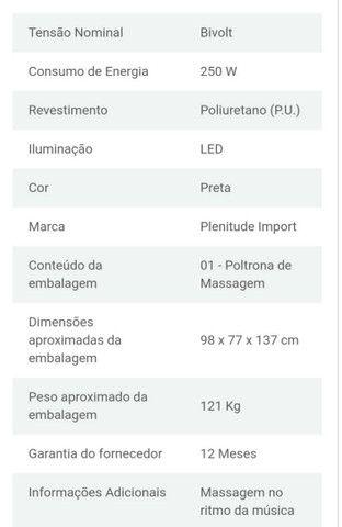 Poltrona massageadora plenitude import - Foto 4