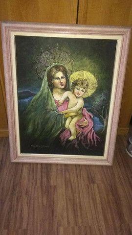 Vendo 3 quadros medios - 1 quadro em pintura grande e Espelho! - Foto 5