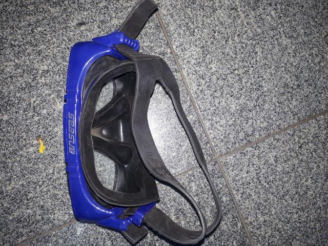 Máscara de mergulho, canudo e pé de pato - Foto 6