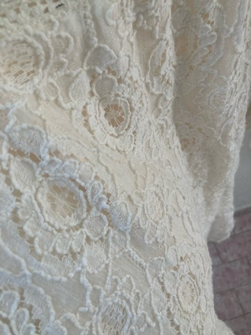 Vestido branco de renda  - Foto 3